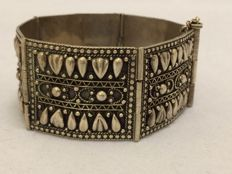 Antique silver cuff bracelet - Middle East - ca. 1930/50 - Length: 19 cm