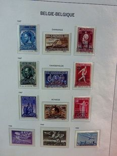Belgium 1930/1996 - collection of airmail stamps, German occupation stamps, express stamps and railway stamps on album pages