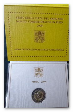 Vatican - 2 euros 2009 'Year of Astronomy' + 2 euros 2010 'Year for Priests'