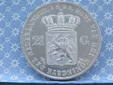 Netherlands – 2½ guilders 1852a Willem III – silver