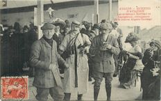 Aviation - Old postcard - Angers Aviation meeting - the aviators Martinet and Legagneux winners of the race Angers Saumur