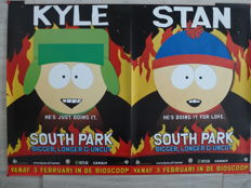 South Park - Warner Brothers - 2 Big Filmposters - 118 x 83 cm - 1999 -Kyle / Stan.