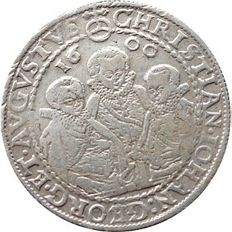 Old Germany, Saxony - 1 Reichsthaler 1600 Christian II, Joh. George I and August (guardianship),