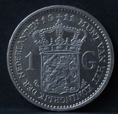 The Netherlands – 1 guilder 1911 Wilhelmina – silver