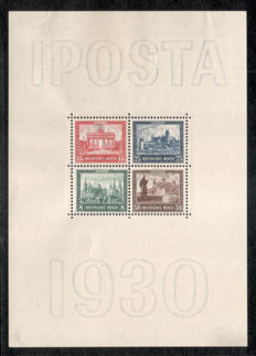 German Reich 1930, IPOSTA block, MH in beautiful quality, Michel no. block 1