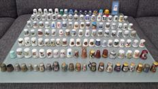 Collection of 130 thimbles
