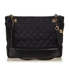 Chanel - Quilted Nylon Chain Tote