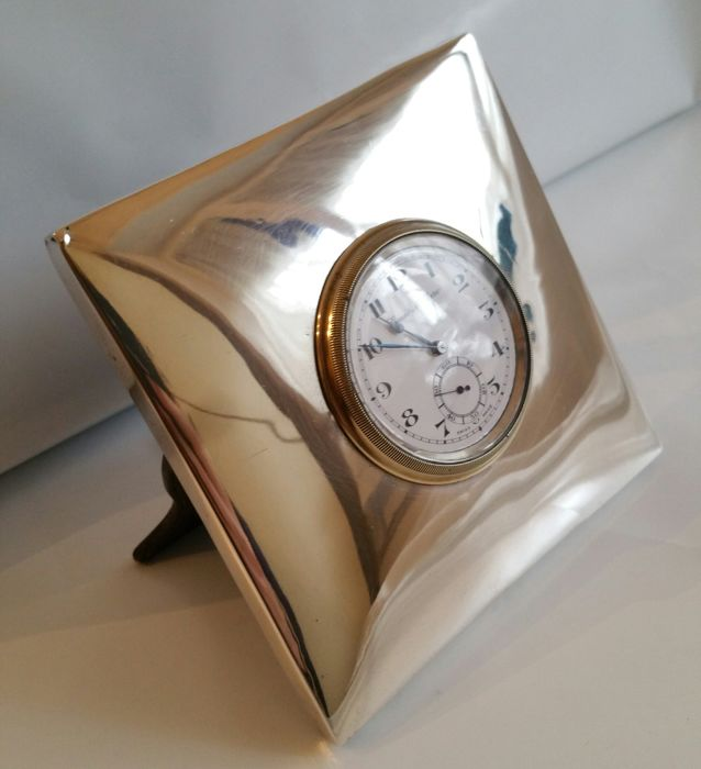 Genio Militare Desk Clock With Silver Frame Swiss Made Catawiki