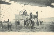 "Aviation - Ballooning - Lot of 10 old postcards ""the airship République"" including 5 cards of the state funeral of the victims of the airship République September 18, 1909"