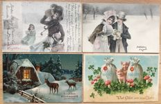 Lot consisting of 210  new year cards - very beautiful collection