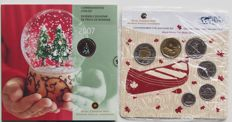 Canada Christmas coin set 2007 and World Money Fair Berlin coin set 2013 (2 different)