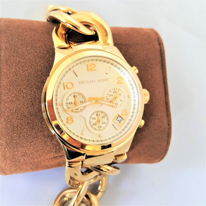 Michael Kors - Runway Twist Chronograph Gold (Ladies) - 2018, New, Complete in Box