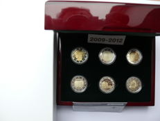 Luxembourg – 11 x 2 Euro, 2 Euro Proof special coin set 2009 2010 2011 2012 2014 2015 2016