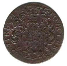 The Netherlands, Utrecht – token/jeton 1596 'Heavy taxes on beer, butter and cheese' – copper