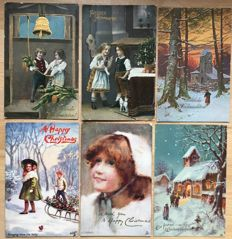 Lot consisting of 120 Christmas greeting cards - lovely collection