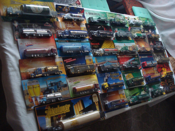 Collection - brewery trucks, commercial trucks, some special editions, in original packaging, 71 pieces - 1995/2006