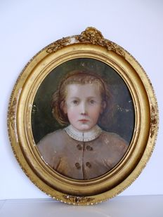 Christian Strobel (1855 Salzburg - 1899 Nuremberg, attributed to) - Kinderporträt