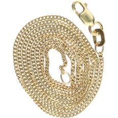 14 kt Yellow gold curb link necklace.