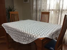 Handmade crocheted tablecloth. Cotton