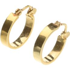 14 kt Yellow gold dangle earrings - length x width: 1.5 x 0.3 cm