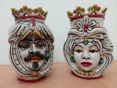 Caltagirone Ceramic Moor Heads
