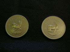 South Africa - krügerrand 2017 '50 years anniversary issue' (2 pieces) - 1 oz silver