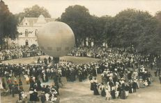 "Balloon - Aviation - Aerospace - Old photo card "" Château du Loir- département de la Sarthe 72 -"