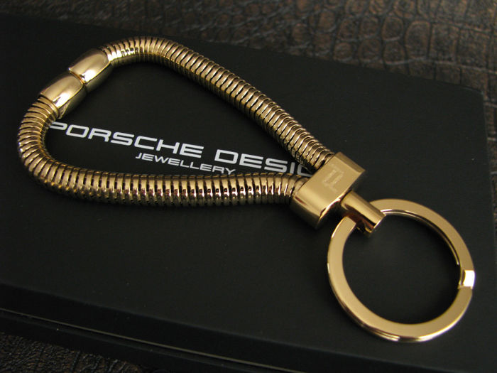 original porsche design gold schl sselanh nger keyring. Black Bedroom Furniture Sets. Home Design Ideas