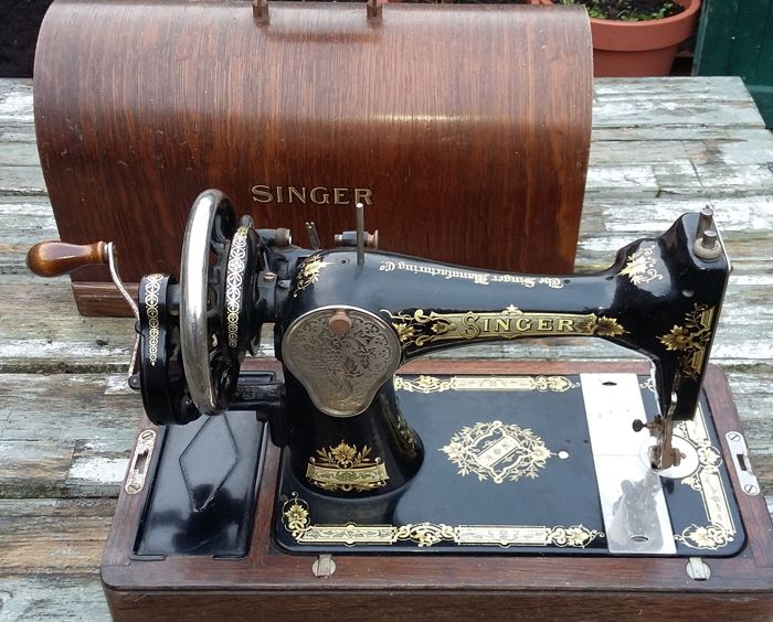 Magnificent Singer 40K Handsewing Machine With Wooden Cover 40 Best Singer Hand Sewing Machine