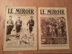 "2 newspapers ""Le Miroir"" 1915"