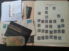 Switzerland from classic onwards - Batch on cards, in bags and on sheets