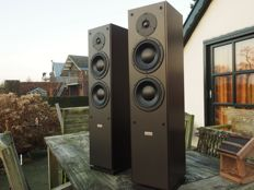 Dynaudio Audience 8;  made in Denmark, 3-unit, 2-way speaker set of high quality