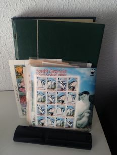 World - 375 Sheets of World and 50th Anniversary of Europe. Accumulation in Album and classifying sheets.