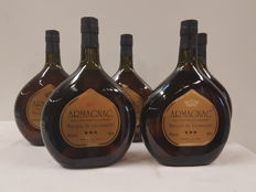 Armagnac - Marquis de Lacassagne - 5 bottles of 100cl