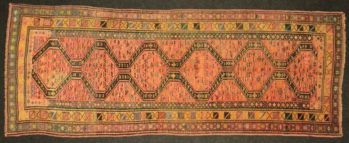 Russian Kazak carpet measurements: 296 x 110 cm.