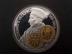Netherlands Antilles - 10 Guilder 2001 - Cosimo with gold inlay **