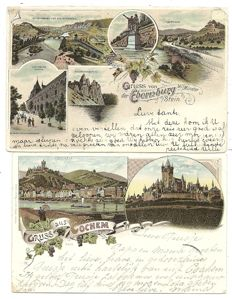 Party postcards German towns and cities 142x