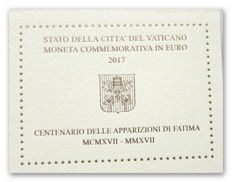 Vatican - 2 euro 2017 '100 Years since the apparitions of Fatima' + 2 euro 2017 'Peter and Paul'