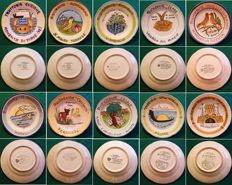 Art Ceramic Solimene Vietri, Italy - Collection of 10 Buon Ricordo Plates
