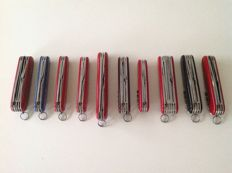 10 Victorinox Swiss Army Knives.