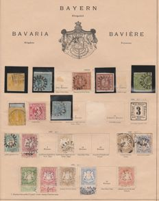 Bavaria 1849/1920 - beautiful collection on album pages
