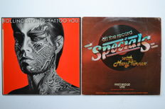 "LP ""Tattoo You"" and 2LP set ""Specials Off the Record""  Westwood One radio promotional for Tattoo You and USA tour 1981"