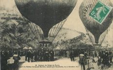 "Balloon - Aviation - Aerospace - old photo card "" Siège de Paris - Départ du Ballon Armand Barbés monté par Gambetta le 11 Octobre 1870"