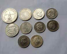 World - Lot of world coins (10 pieces) - Including silver