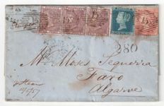Great Britain Queen Victoria - SG 35, 40, 69 on letter.