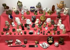 Large collection of 86 owls