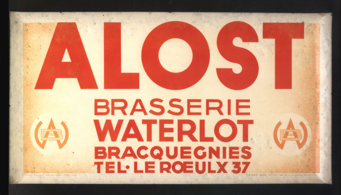 Beer advertising - Alost Brasserie Waterlot Bracquegnies - Year 50/60