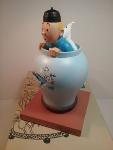 Hergé - Statuette Moulinsart 46401 - Potiche du Lotus Bleu - Collection icones - Le Lotus Bleu - (2017)