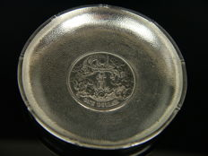 China - Antique silver bowl with Chinese silver dollar 1911