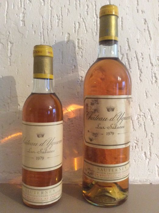 1979 Chateau d'Yquem, Sauternes; 1 x bottle (75cl) & 1 half bottle (37,5cl)